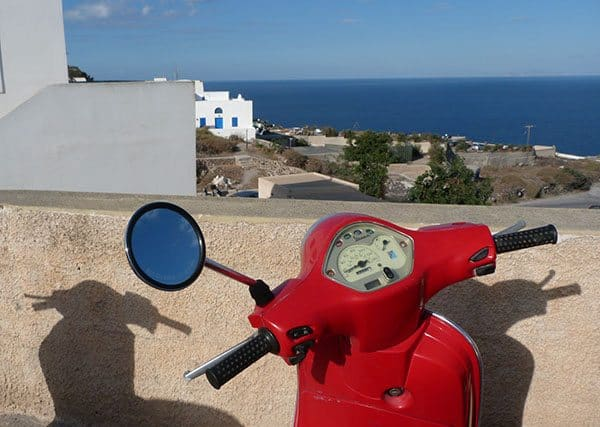 Scooter with a view
