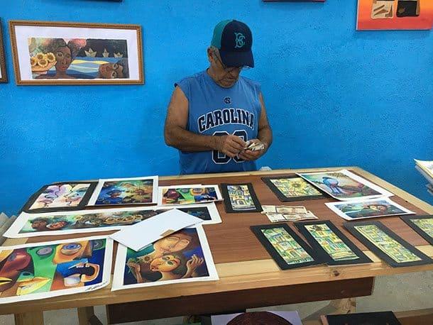Selling art Cuba