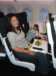 Check out the burger lunch in Air NZ's new Skycouch