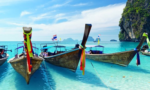 Thailand long boats