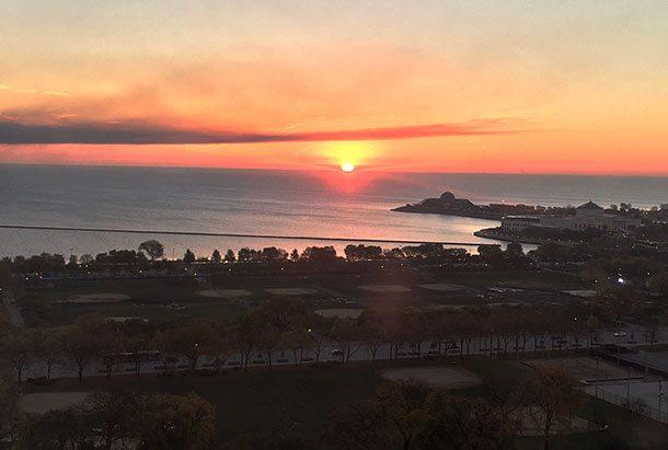 Hilton Chicago view