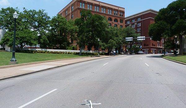 The spot where JFK was murdered