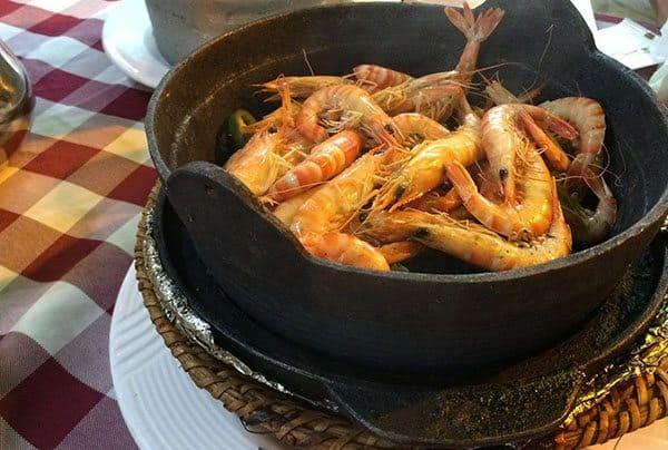 Drunken sauna shrimp