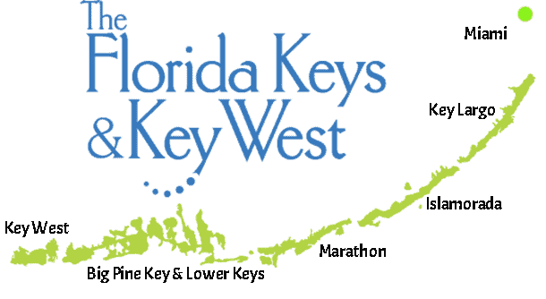 Miami to Florida Keys map