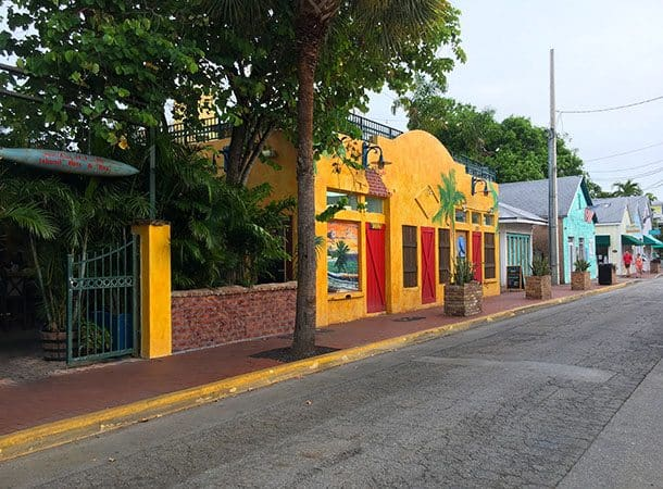 Colourful key west houses