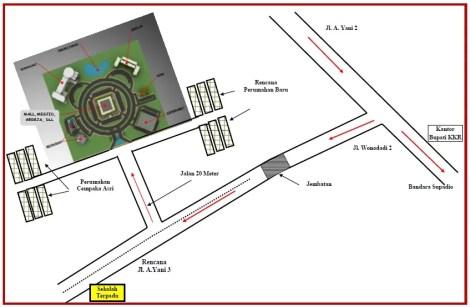 Denah Perumahan Murah Grand Satellite City Kubu Raya