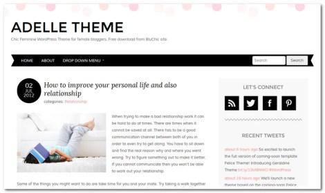 Free WordPress Theme 2013 - Adelle