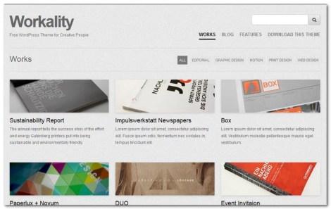 Free WordPress Theme 2013 - Workality