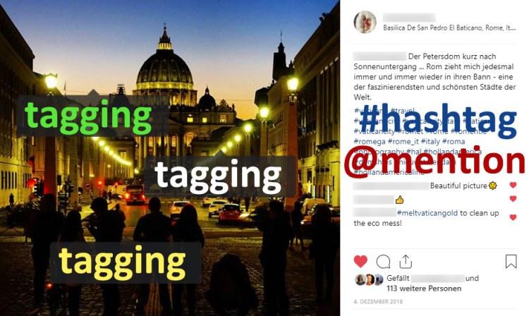 Instagram-Begriffe und Zuordnung