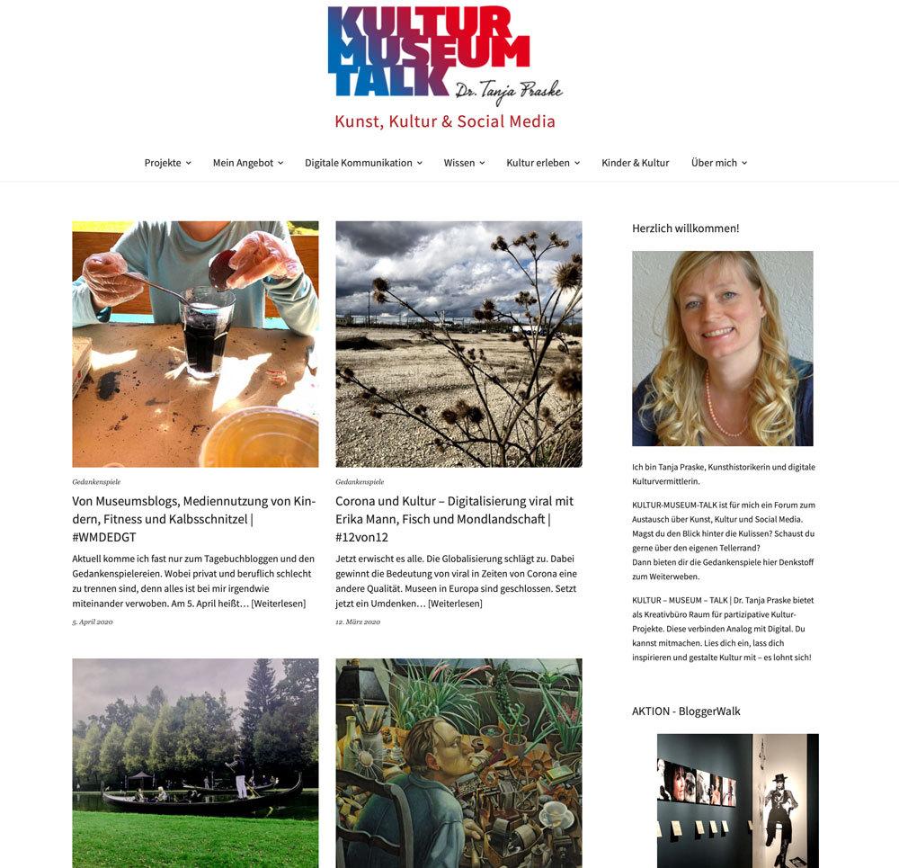 Kultur - Museum -Talk, das Blog von Dr. Tanja Praske