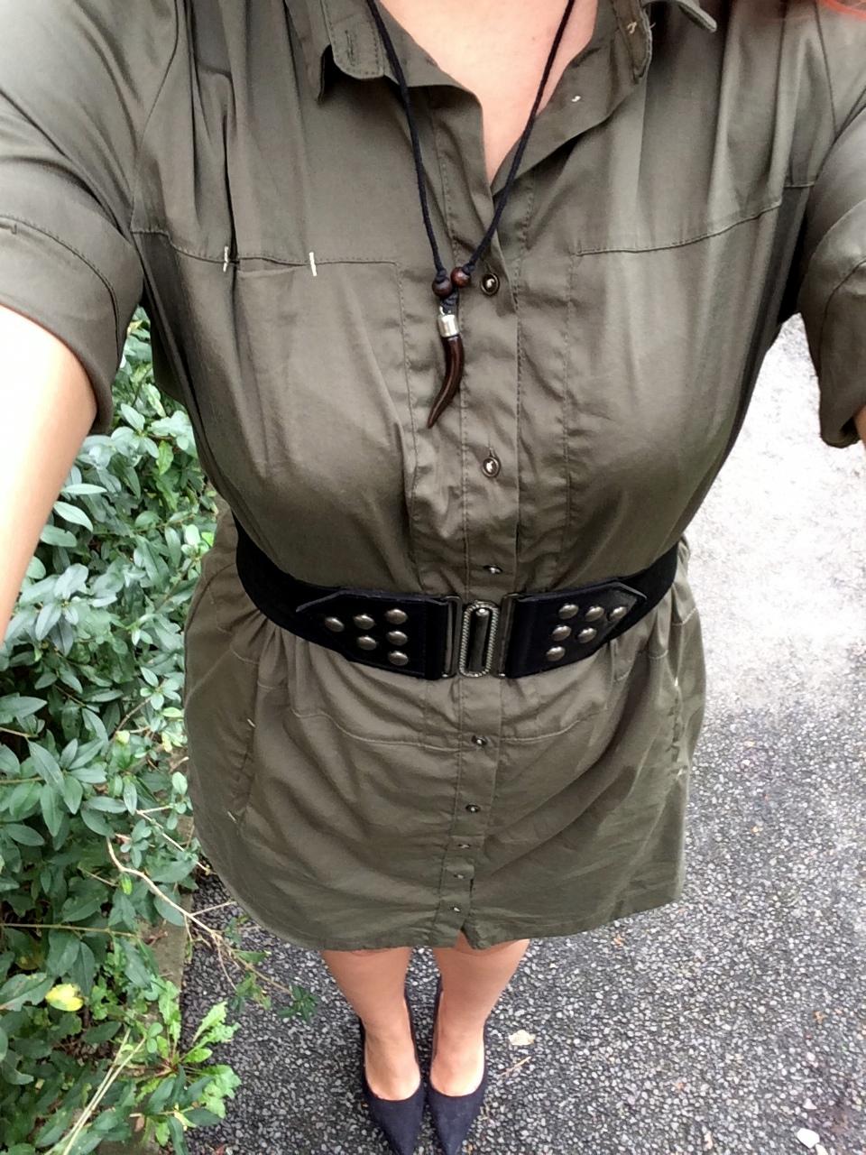 army trend - the khaki shirt-dress from Zara (4)