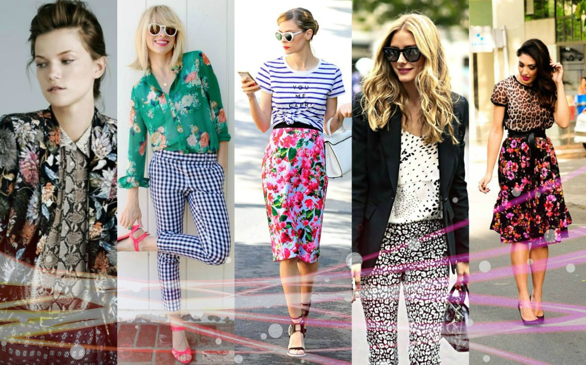 breaking the fashion rules - mixing prints