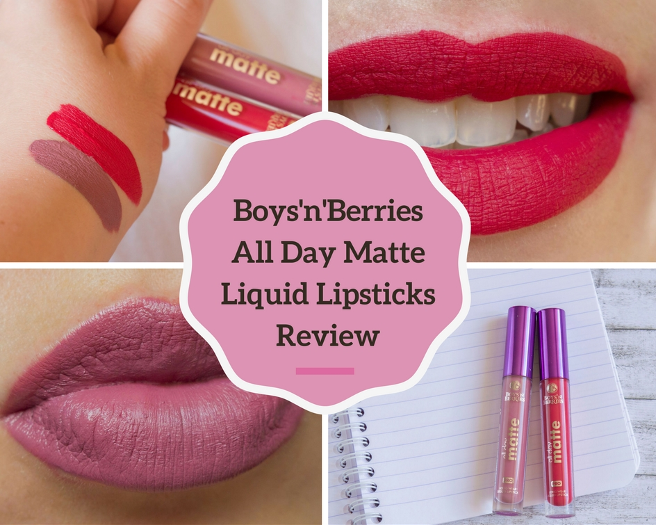 Boys'n'Berries All Day Matte Liquid Lipsticks Review - Aria & Red Sonja