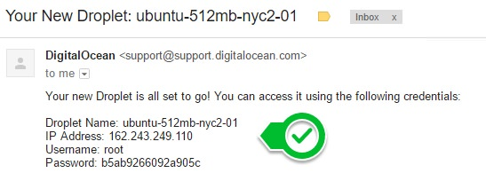 Email From DigitalOcean