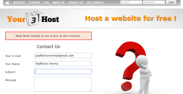 Your3Host Help Desk