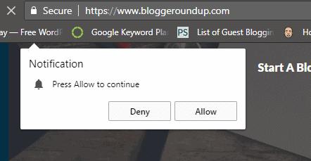 Browser Push Notification