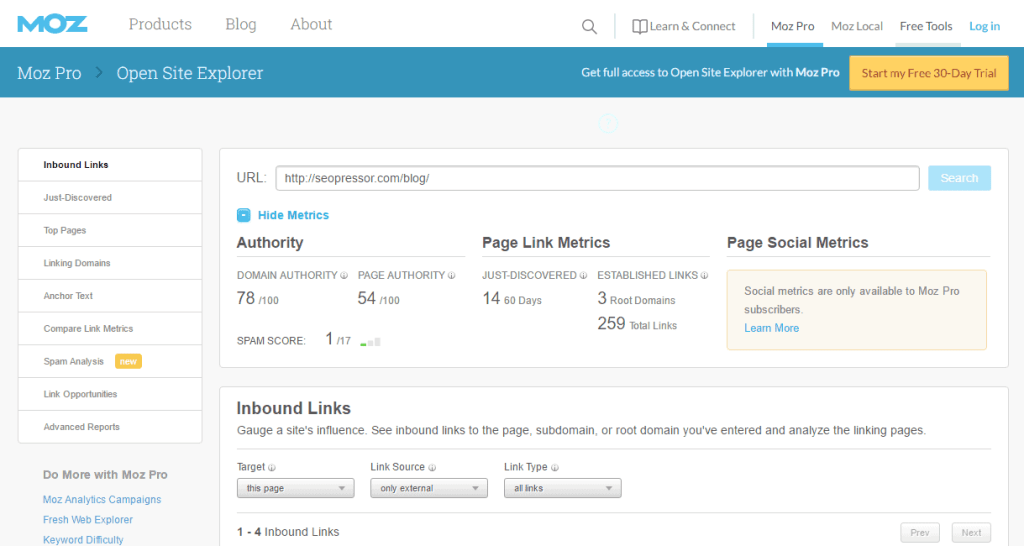 Open-Site-Explorer-Link-Research-Backlink-Checker-Moz