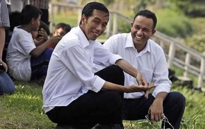 Mr Jokowi dan Anies Baswedan dalam satu frame.