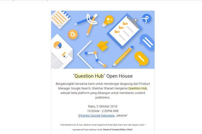 Undangan Google Question Hub