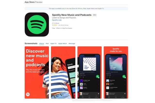 Spotify New Music and Podcasts adalah salah satu aplikasi musik iPhone gratis yang terpopuler.