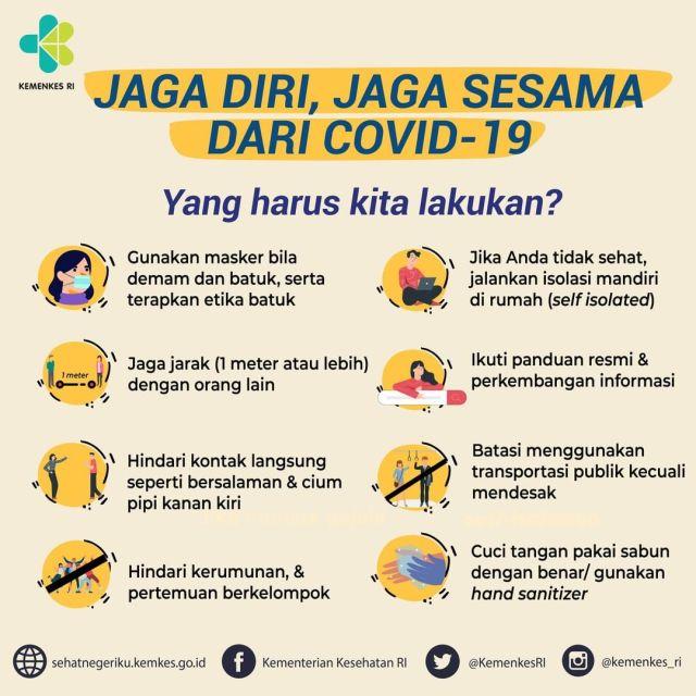 Waspadai cara penularan Virus Corona, juga cara pencegahan agar tidak tertular dan menularkan virus covid19.