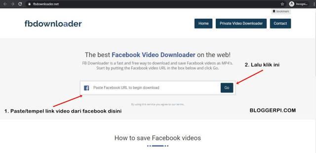 Fbdownloader adalah salah satu website untuk download video di facebook dengan pc atau smartphone secara online.