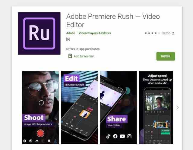 Adobe Premier Rush adalah aplikasi Android edit video tanpa watermark gratis yang direkomedasikan.