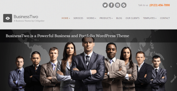 Business Two WordPress theme
