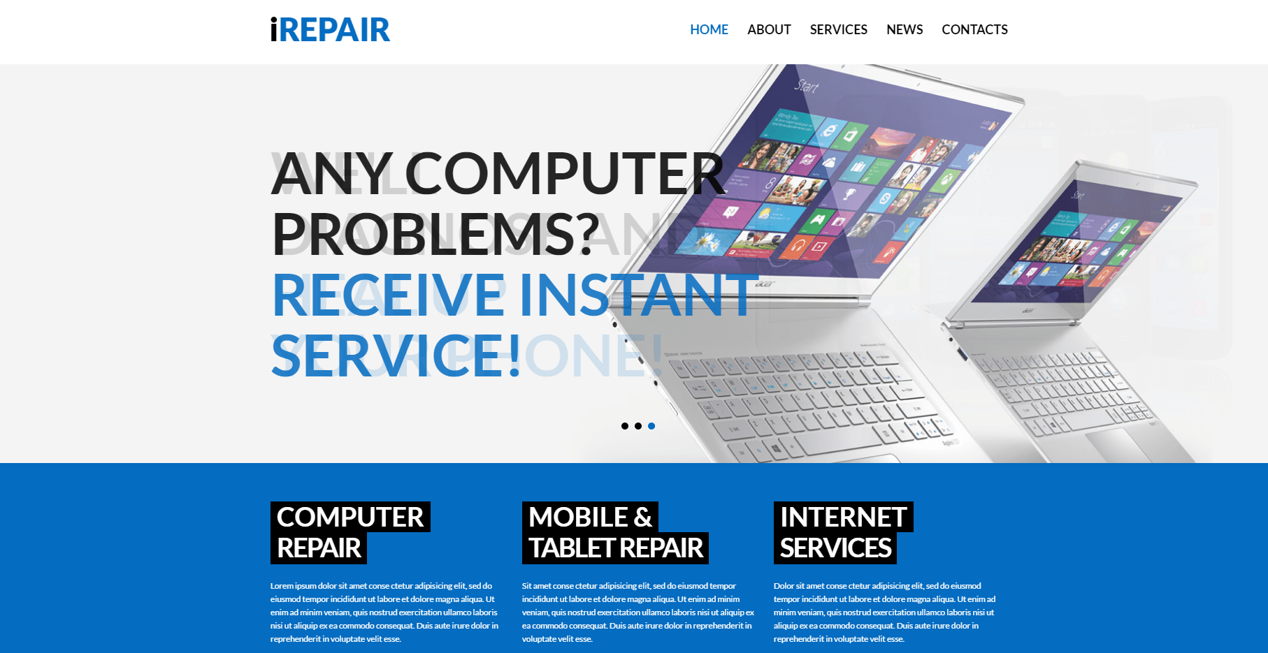 computer repair services wordpress themes
