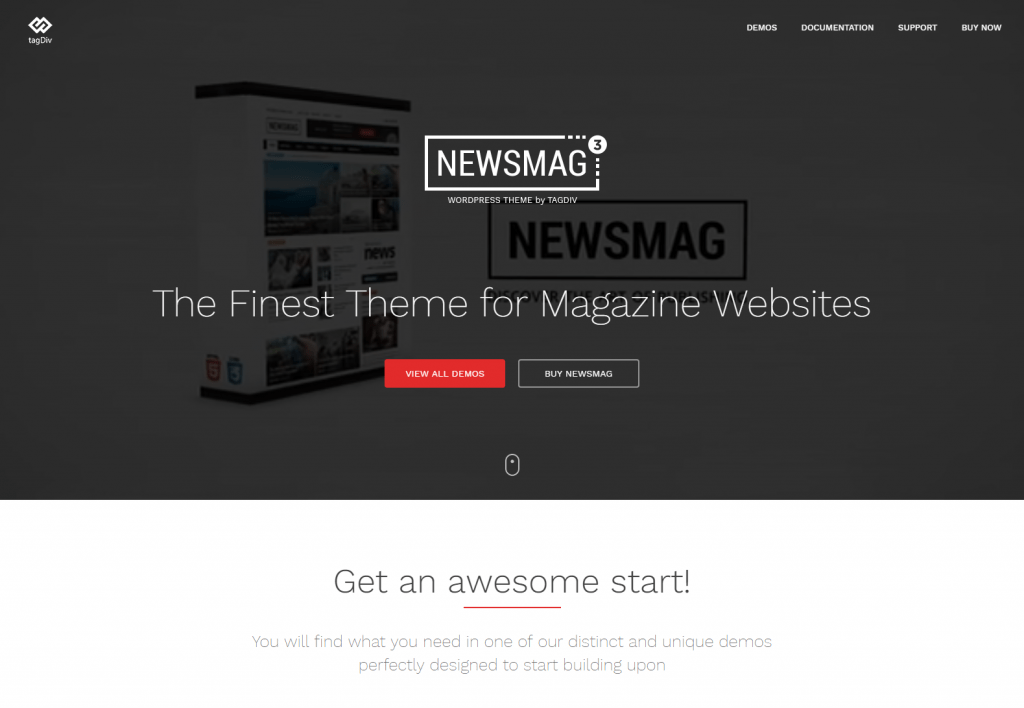Newsmag fashion Magazine WordPress Theme