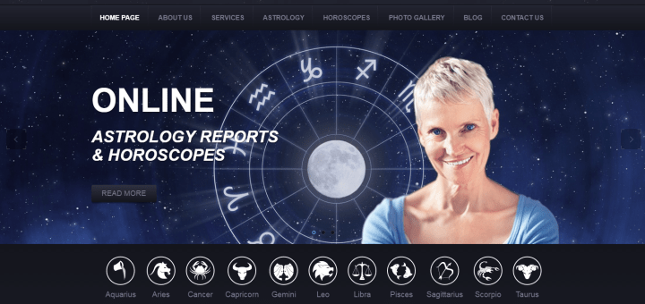 Astrology Responsive Website Template