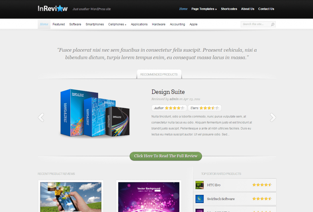 InReview Responsive WordPress Theme