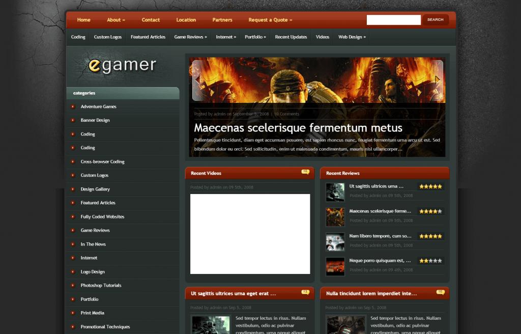eGamer - Professional Gaming WordPress Theme