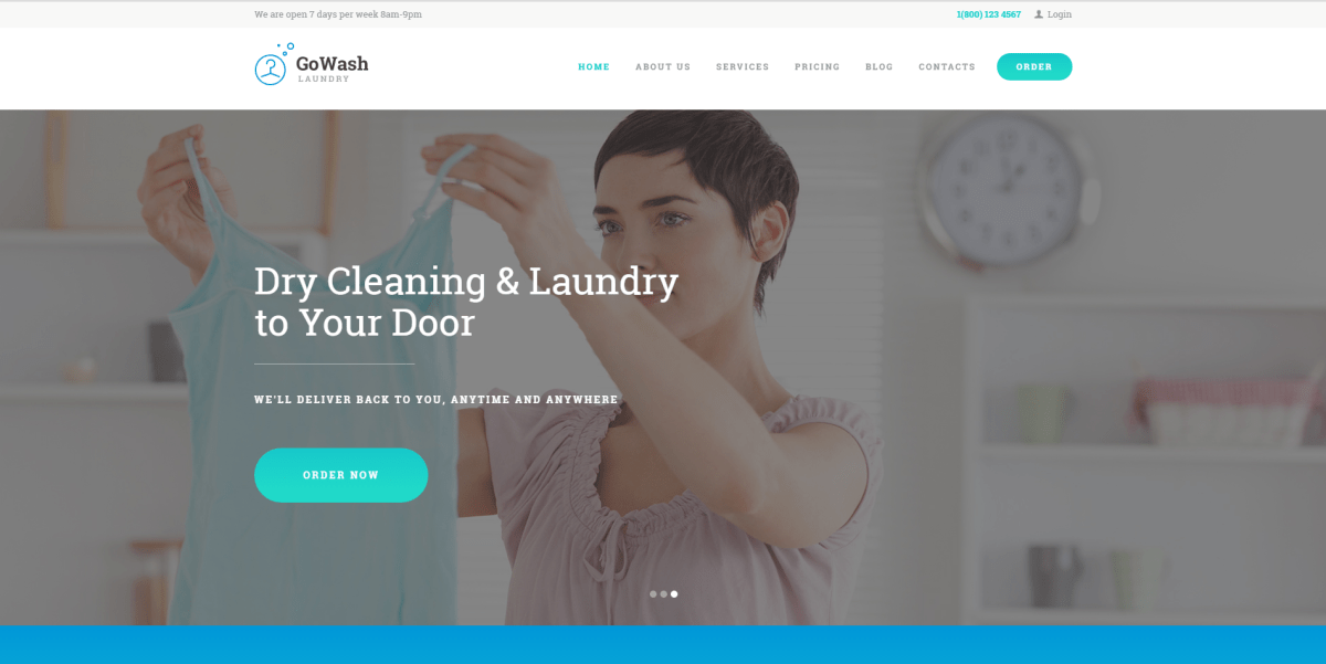 Best Laundry, Dry Cleaning Business WordPress Themes