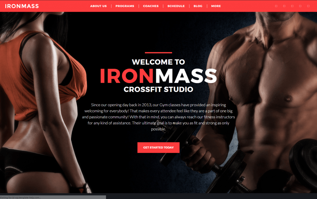 Ironmass - Gym Fitness WordPress Theme