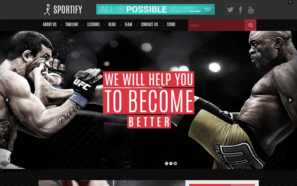 Sportify - Sports & Gym WordPress Theme