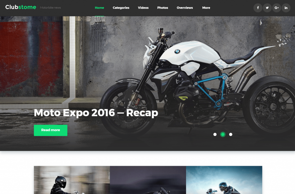Clubstome - Sports WordPress Theme