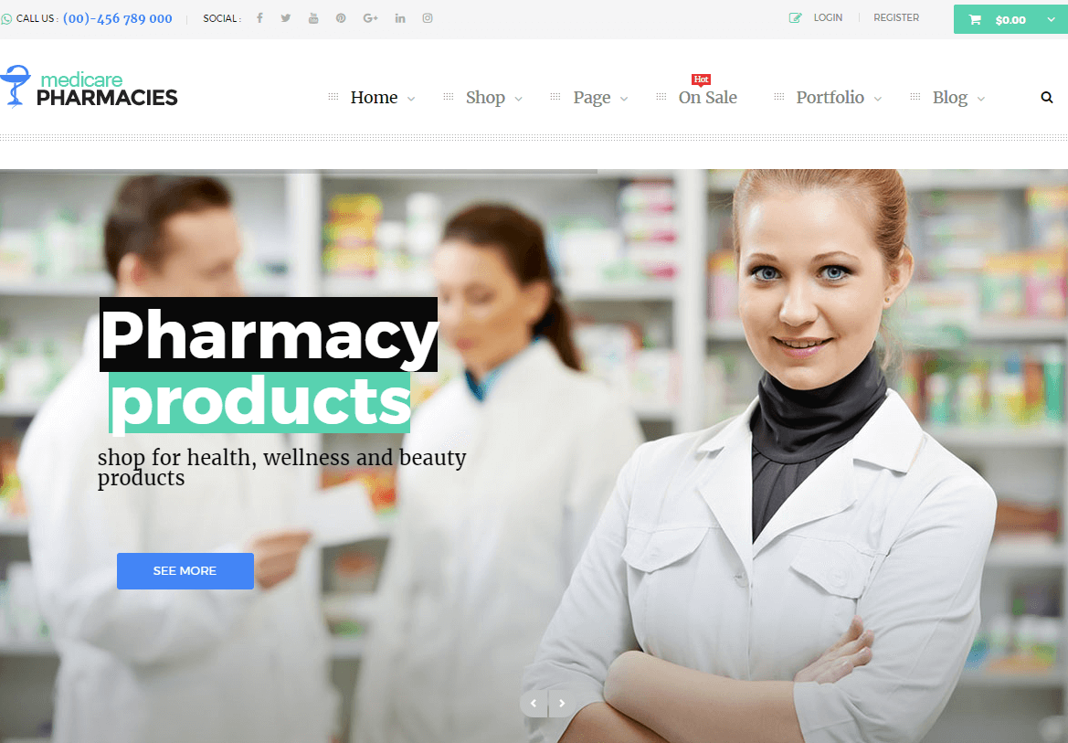 Top 5 Medical, Drug Store WordPress Themes & Templates