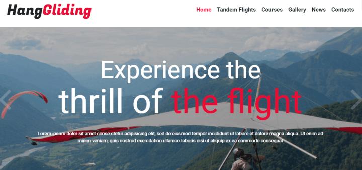 Paragliding Responsive Theme