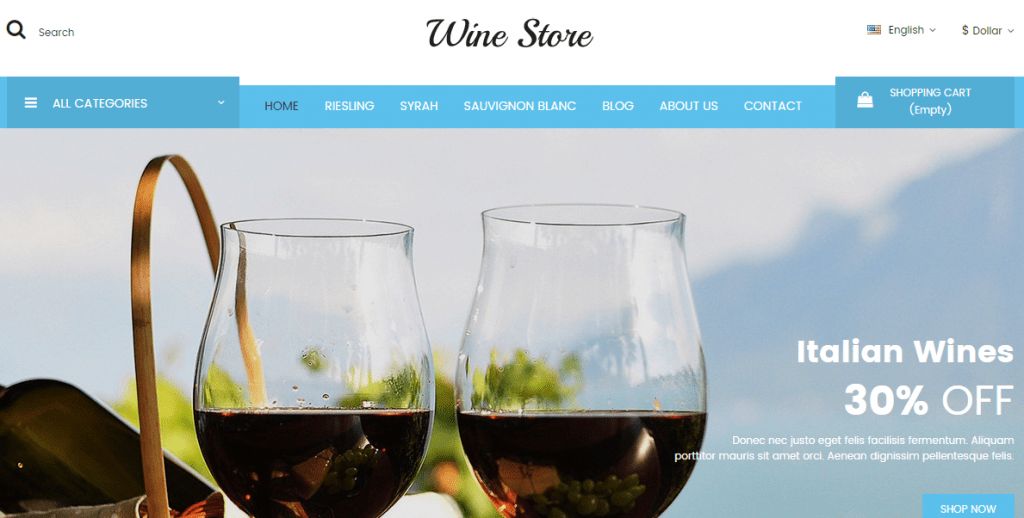 Wine Shop WP Theme