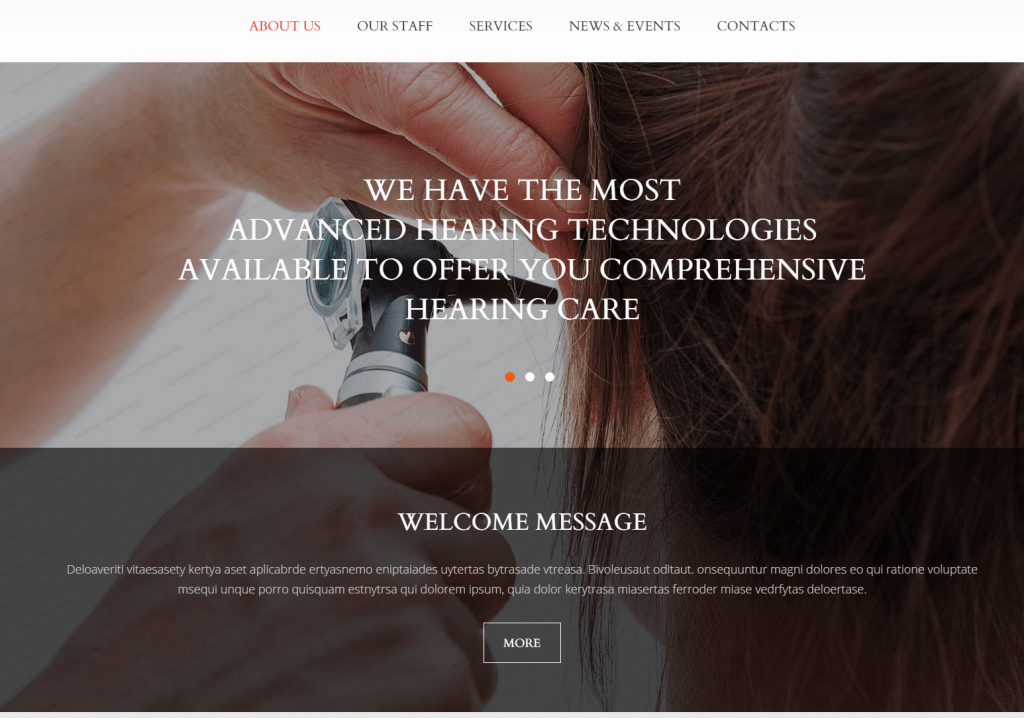 Medical Equipment Website Template