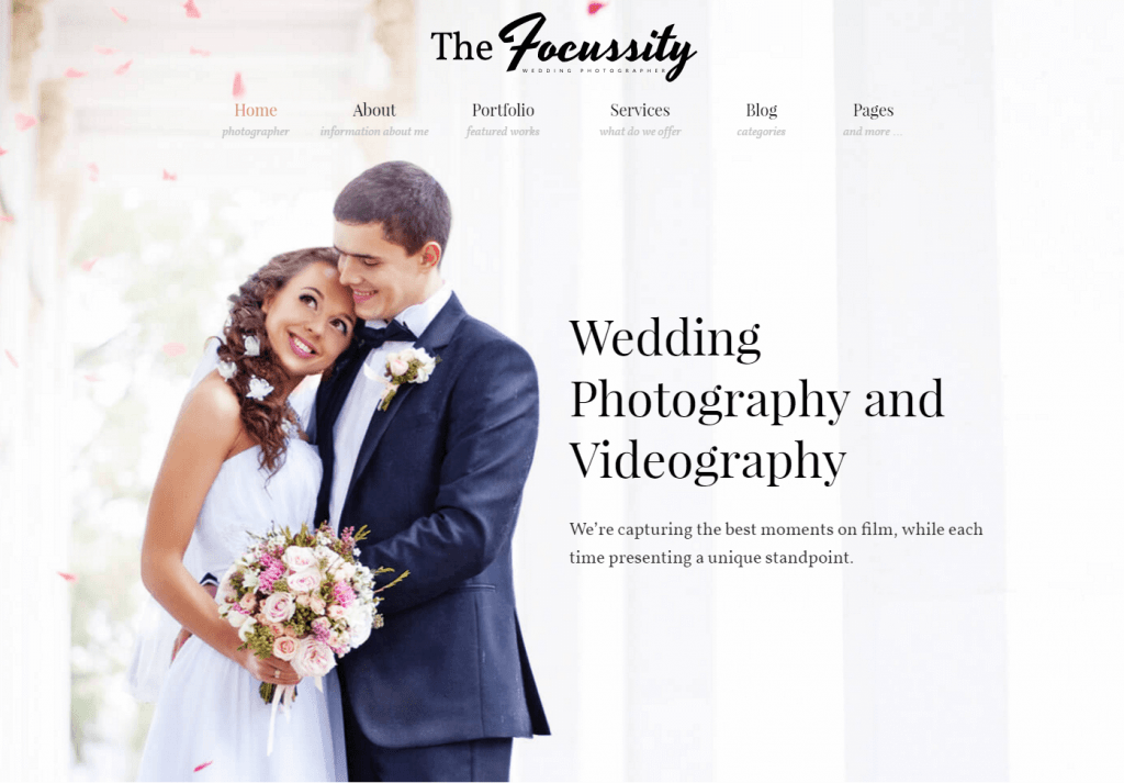 Focussity- Engagement Photography WP Theme