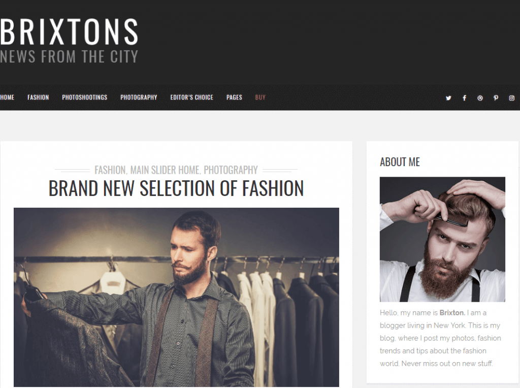 Men's Fashion WordPress Theme