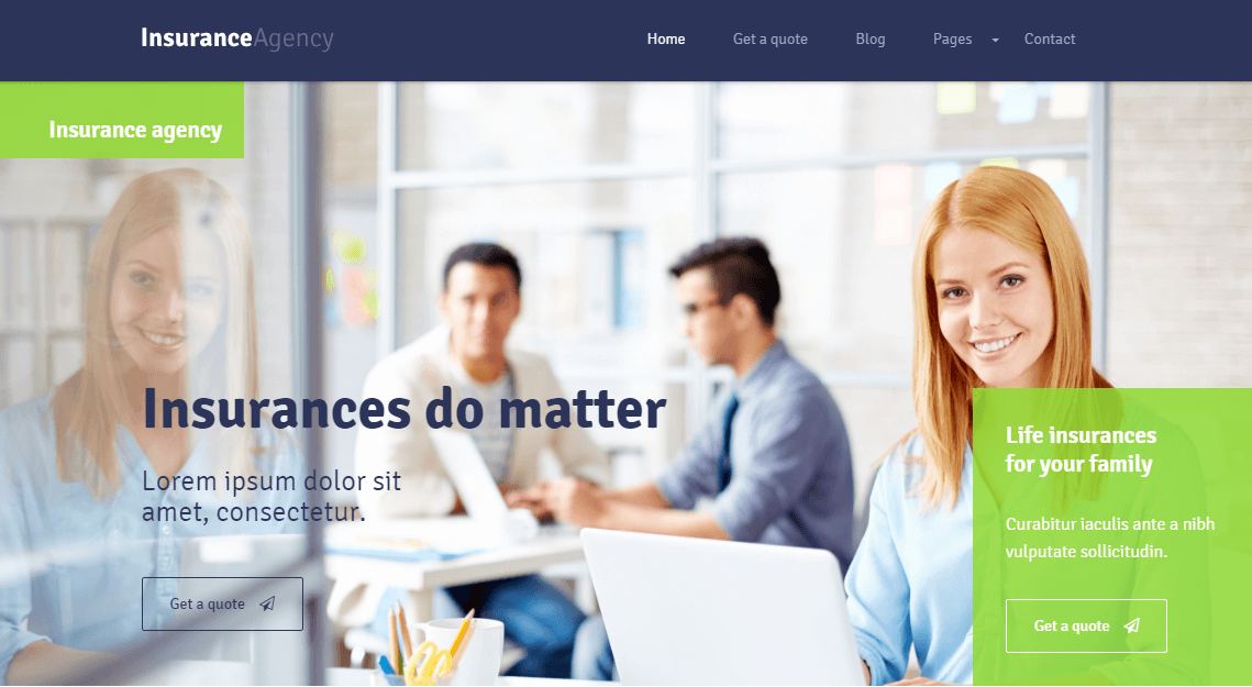 WordPress Theme for Insurance Agency