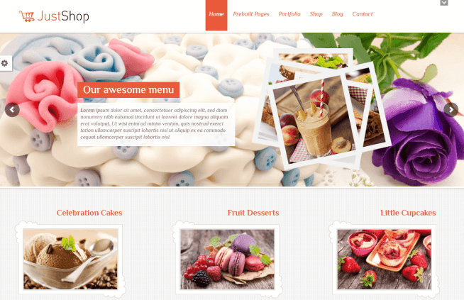 Cake, Bakery WordPress Theme