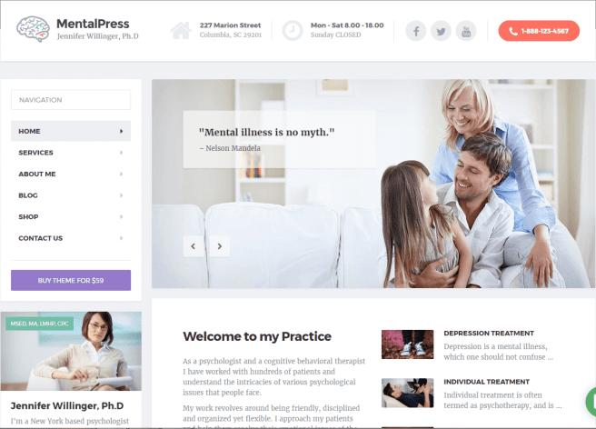 Medical & Psychology WordPress Theme