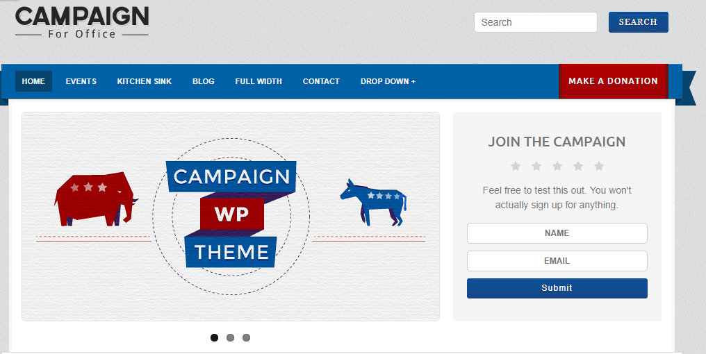 Campaign WordPress Theme