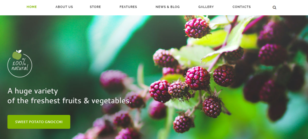 Online Food WP Theme