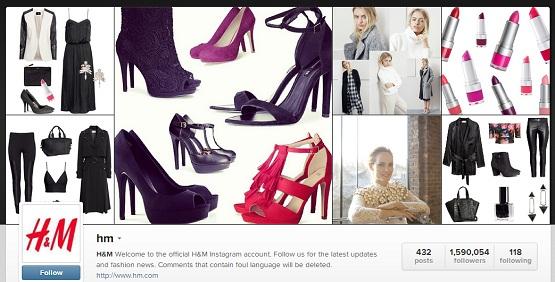 Hm instagram