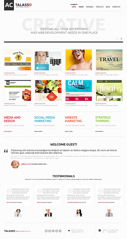 Advertising Company WordPress Theme